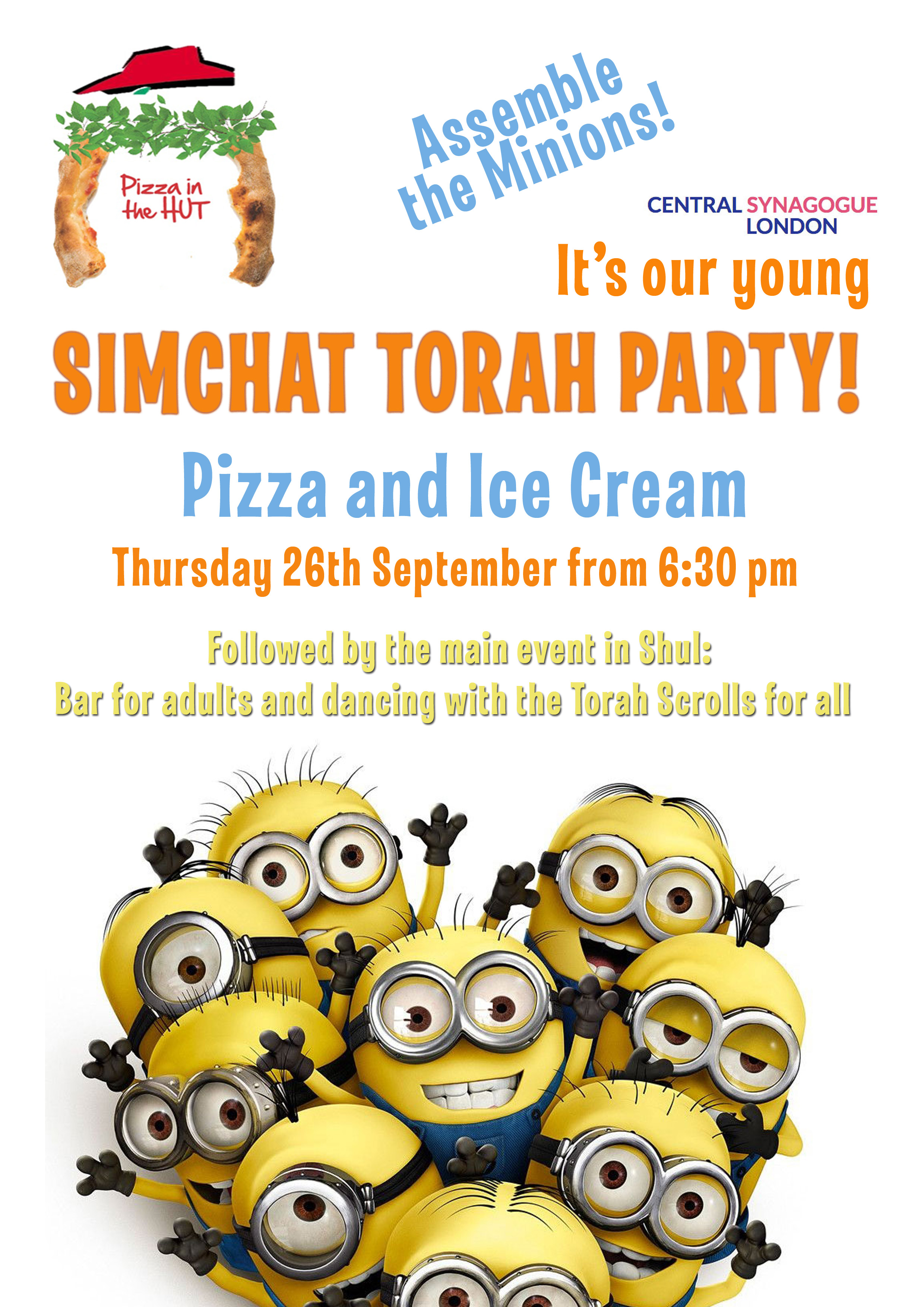 Simchat Torah Despicable Pizza party copy