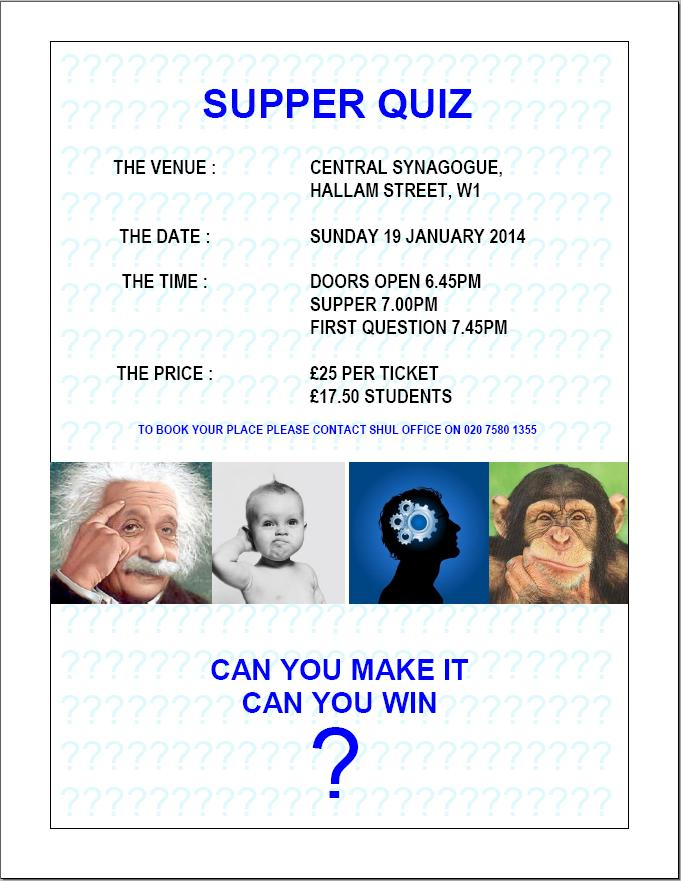 Supper Quiz 2014