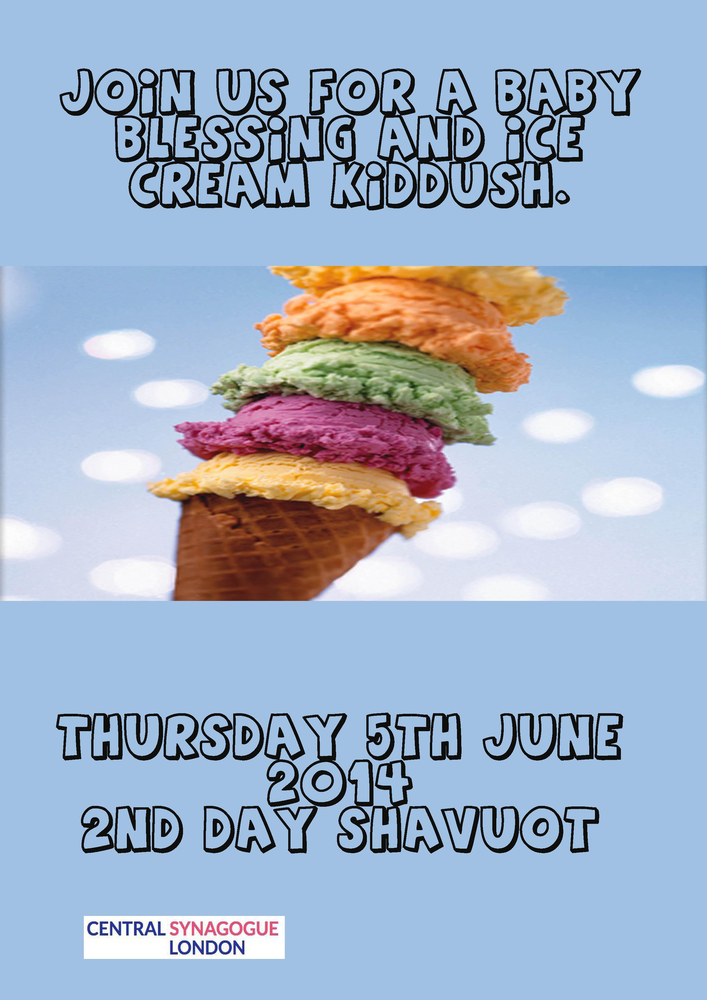 Ice Cream Shavuot flyer copy