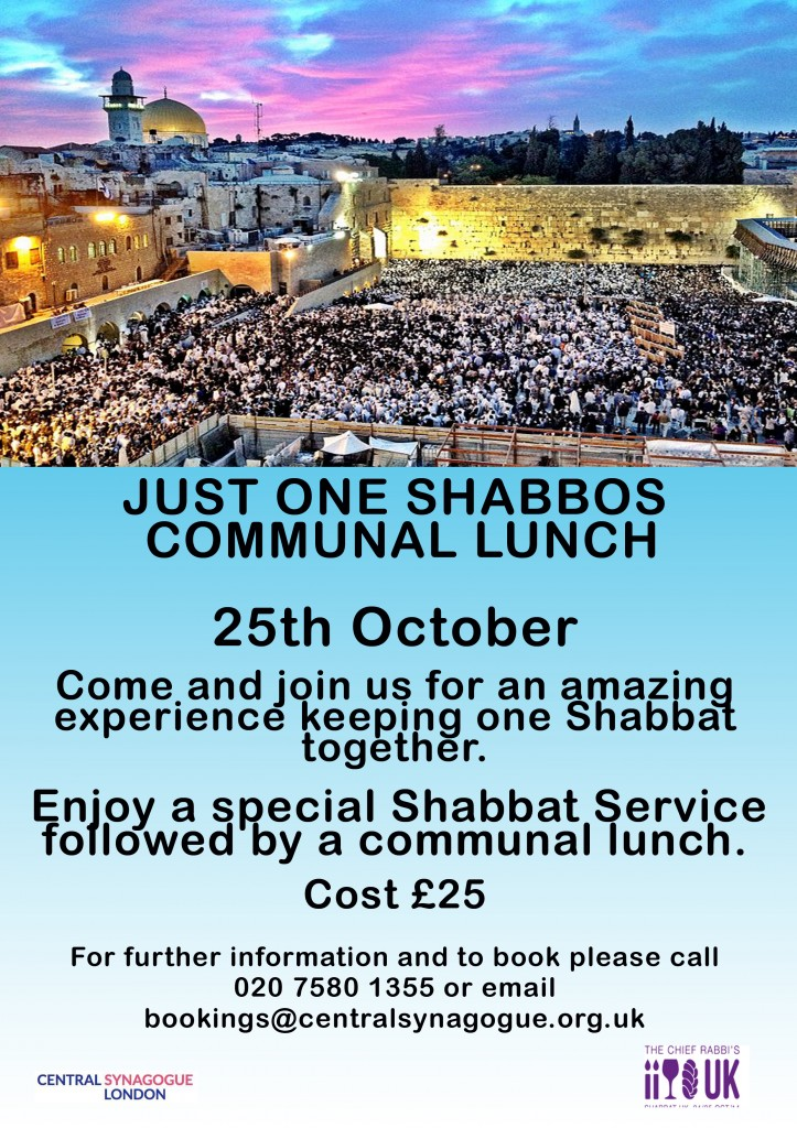 Just One Shabbos Communal Lunch copy
