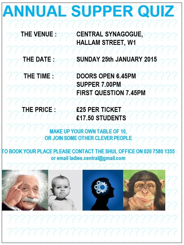 Annual Supper Quiz 2015