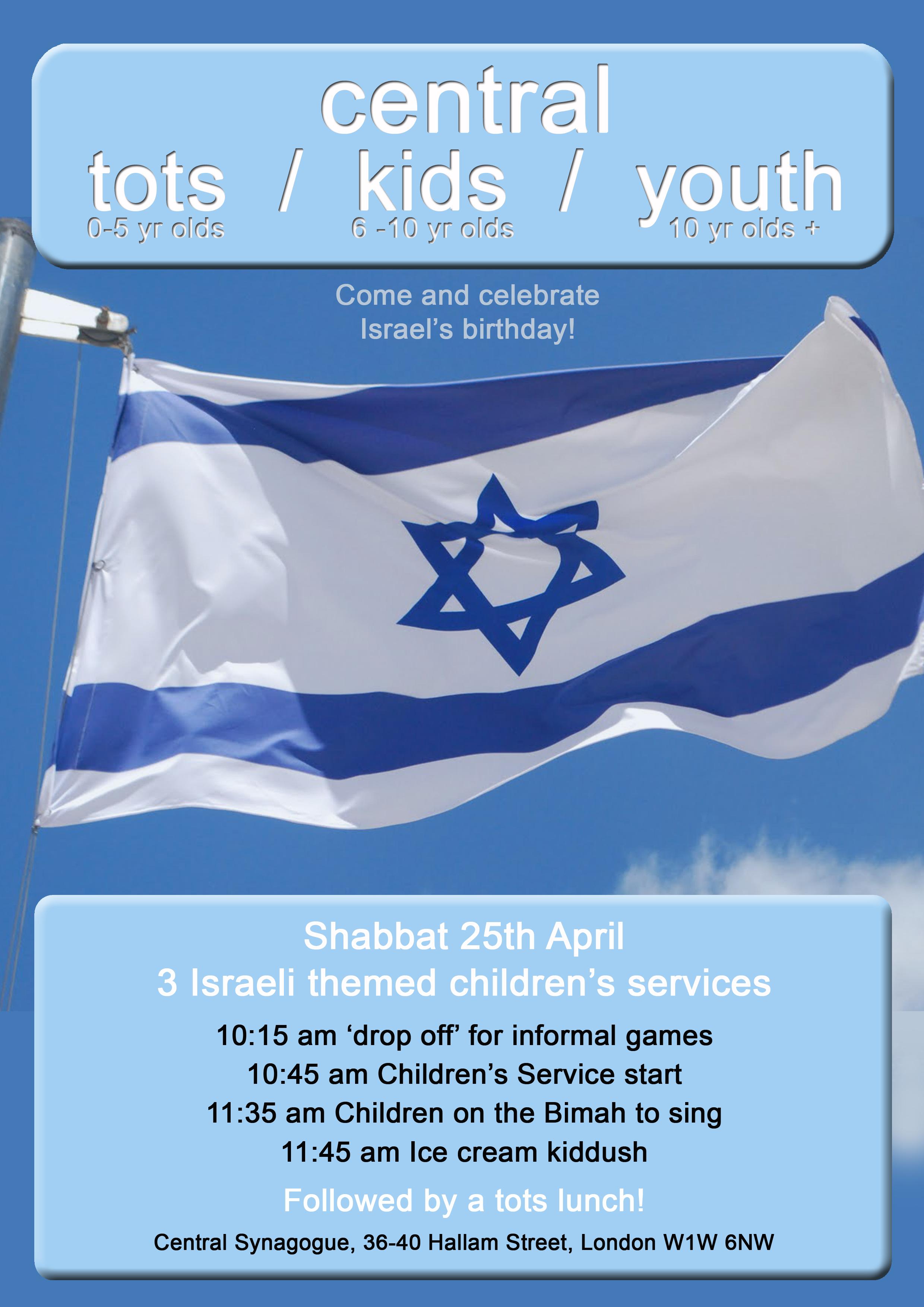 Children's services Israel theme 25 Apr copy
