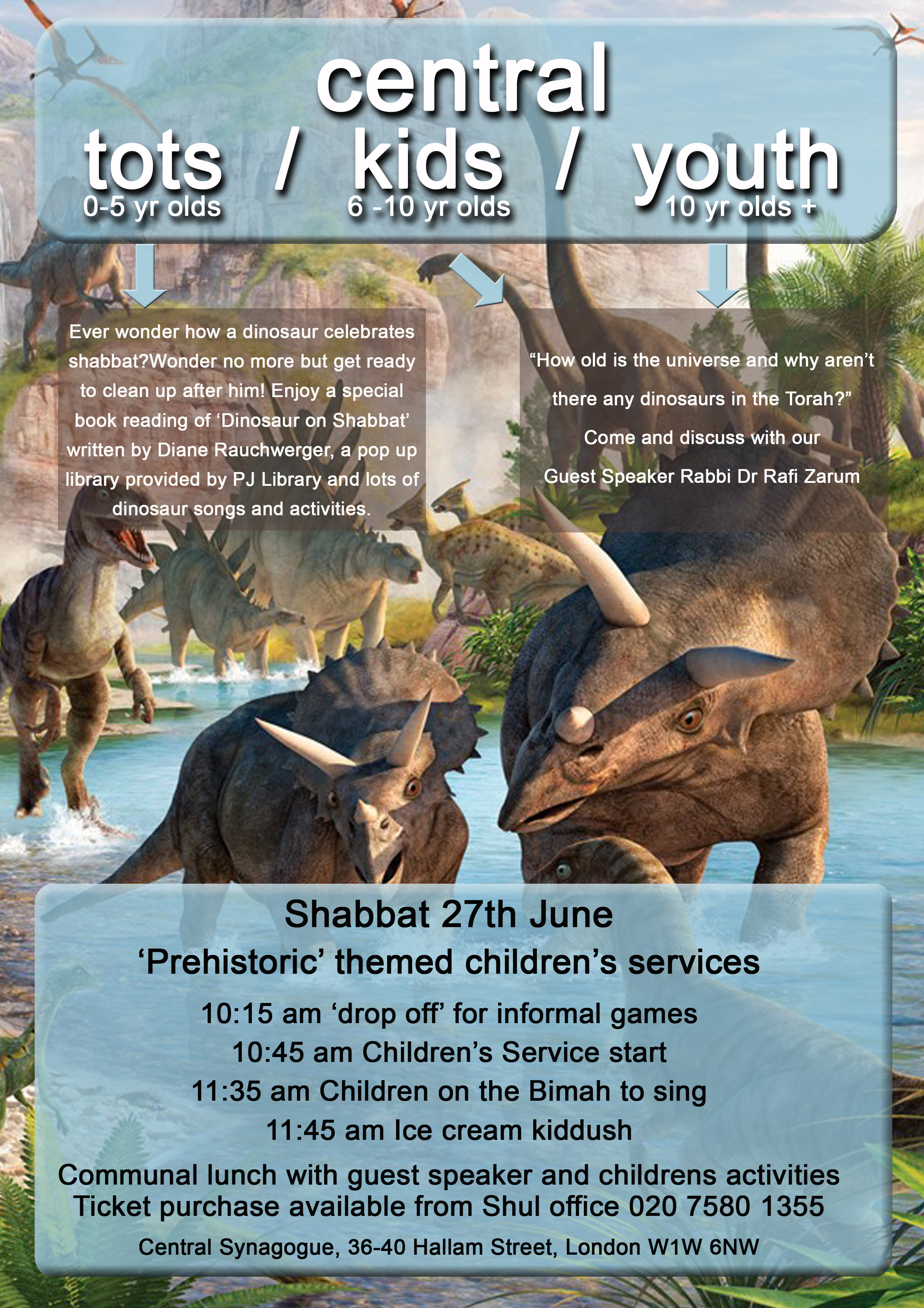 Dinosaur Shabbat 27 June 2015 copy