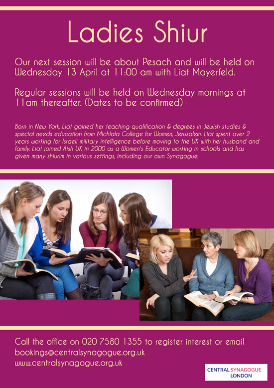 Ladies-Shiur-13-April-2016-